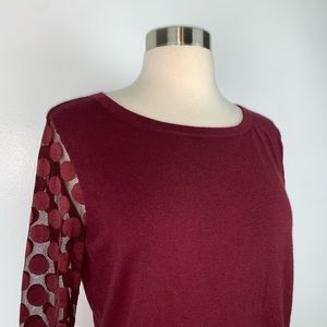 Anthropologie Sweaters - Anthropologie Sparrow Dot Sleeve Sweater O3880